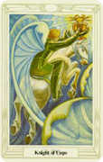 Knight of Cups Tarot card in Crowley Tarot deck