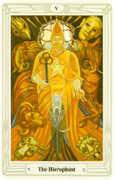 The Hierophant Tarot card in Crowley Tarot deck
