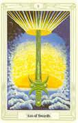 Ace of Swords Tarot card in Crowley Tarot deck