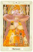The Lovers Tarot card in Crowley Tarot deck