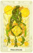 Prince of Swords Tarot card in Crowley Tarot deck