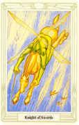 Knight of Swords Tarot card in Crowley Tarot deck