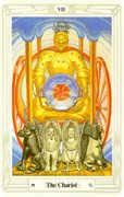The Chariot Tarot card in Crowley Tarot deck