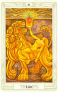 Lust Tarot card in Crowley Tarot deck