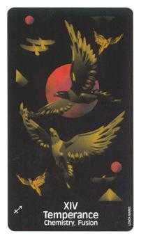 Temperance Tarot Card - Crow's Magick Tarot Deck