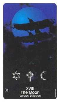 The Moon Tarot Card - Crow's Magick Tarot Deck