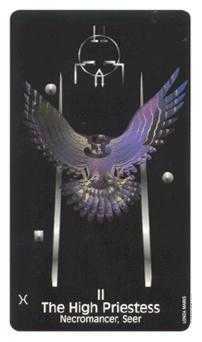 The High Priestess Tarot Card - Crow's Magick Tarot Deck