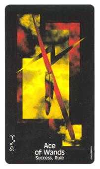 Ace of Fire Tarot Card - Crow's Magick Tarot Deck