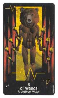 Six of Fire Tarot Card - Crow's Magick Tarot Deck