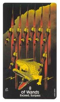 Eight of Batons Tarot Card - Crow's Magick Tarot Deck