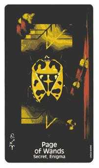 Valet of Batons Tarot Card - Crow's Magick Tarot Deck
