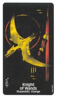 Knight of Batons Tarot Card - Crow's Magick Tarot Deck