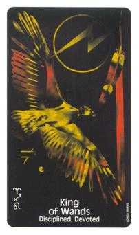 King of Rods Tarot Card - Crow's Magick Tarot Deck