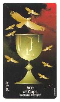 Ace of Hearts Tarot Card - Crow's Magick Tarot Deck
