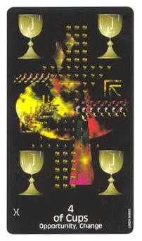 Four of Cups Tarot Card - Crow's Magick Tarot Deck