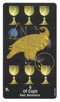 Six of Bowls Tarot Card - Crow's Magick Tarot Deck