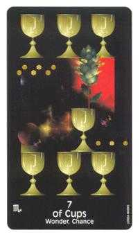 Seven of Bowls Tarot Card - Crow's Magick Tarot Deck