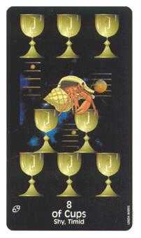 Eight of Cups Tarot Card - Crow's Magick Tarot Deck