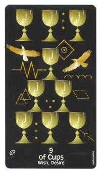 Nine of Hearts Tarot Card - Crow's Magick Tarot Deck
