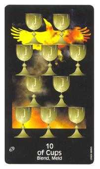 Ten of Cups Tarot Card - Crow's Magick Tarot Deck
