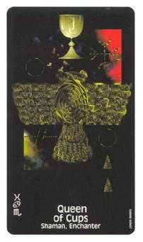 Reine of Cups Tarot Card - Crow's Magick Tarot Deck