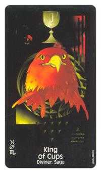 Shaman of Cups Tarot Card - Crow's Magick Tarot Deck