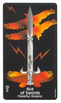 Ace of Swords Tarot Card - Crow's Magick Tarot Deck