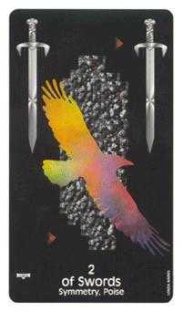 Two of Bats Tarot Card - Crow's Magick Tarot Deck
