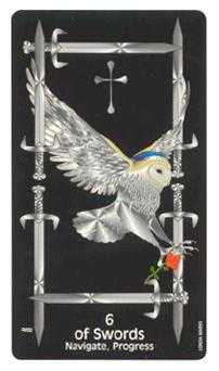 Six of Bats Tarot Card - Crow's Magick Tarot Deck