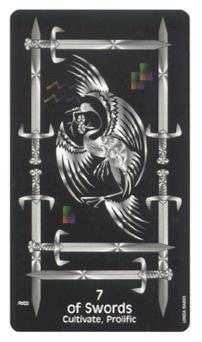 Seven of Swords Tarot Card - Crow's Magick Tarot Deck