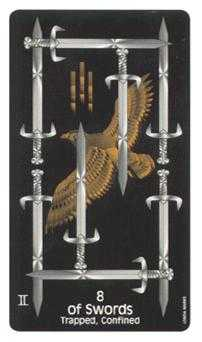 Eight of Arrows Tarot Card - Crow's Magick Tarot Deck