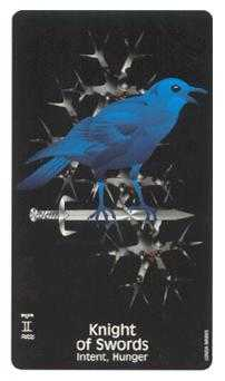 Cavalier of Swords Tarot Card - Crow's Magick Tarot Deck