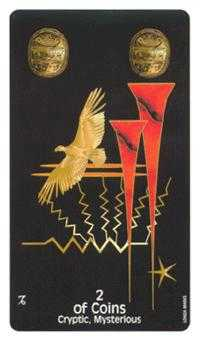 Two of Diamonds Tarot Card - Crow's Magick Tarot Deck