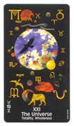 The World Tarot card in Crow's Magick Tarot deck