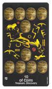 Ten of Coins Tarot card in Crow's Magick Tarot deck