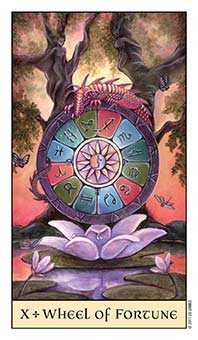 The Wheel of Fortune Tarot Card - Crystal Visions Tarot Deck