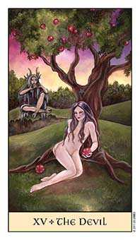 The Devil Tarot Card - Crystal Visions Tarot Deck