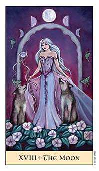 The Moon Tarot Card - Crystal Visions Tarot Deck