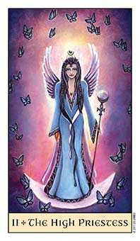 The High Priestess Tarot Card - Crystal Visions Tarot Deck