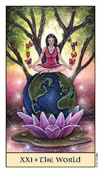 The World Tarot Card - Crystal Visions Tarot Deck