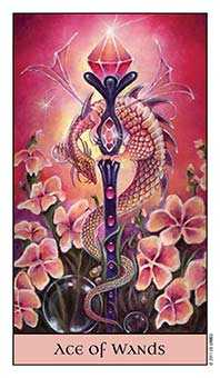 Ace of Rods Tarot Card - Crystal Visions Tarot Deck