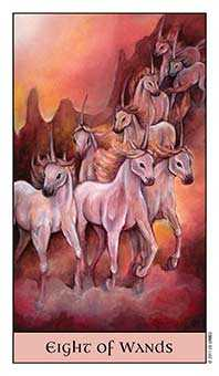 Eight of Staves Tarot Card - Crystal Visions Tarot Deck