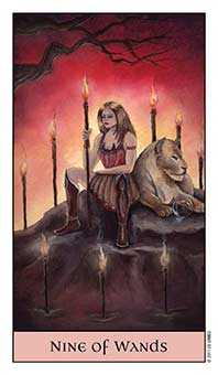 Nine of Fire Tarot Card - Crystal Visions Tarot Deck