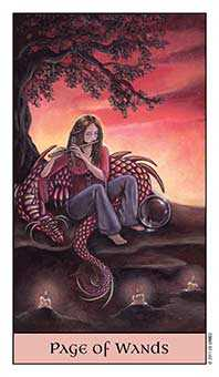 Daughter of Wands Tarot Card - Crystal Visions Tarot Deck