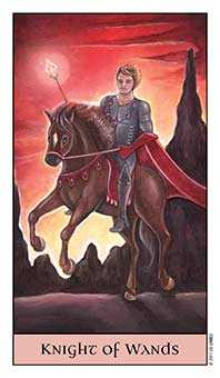 Knight of Batons Tarot Card - Crystal Visions Tarot Deck