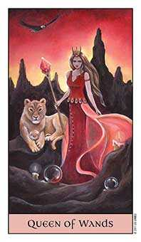 Queen of Batons Tarot Card - Crystal Visions Tarot Deck