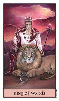 King of Batons Tarot Card - Crystal Visions Tarot Deck