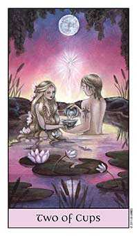 Two of Ghosts Tarot Card - Crystal Visions Tarot Deck