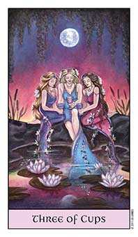 Three of Bowls Tarot Card - Crystal Visions Tarot Deck