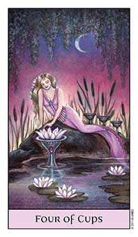 Four of Bowls Tarot Card - Crystal Visions Tarot Deck